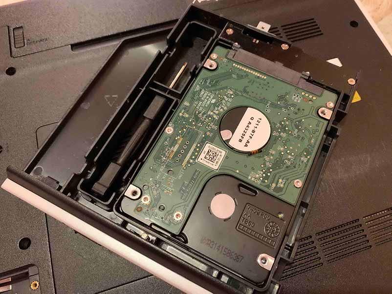 большая нагрузка на процессор Салазки к HDD для ноутбука (вид снизу)