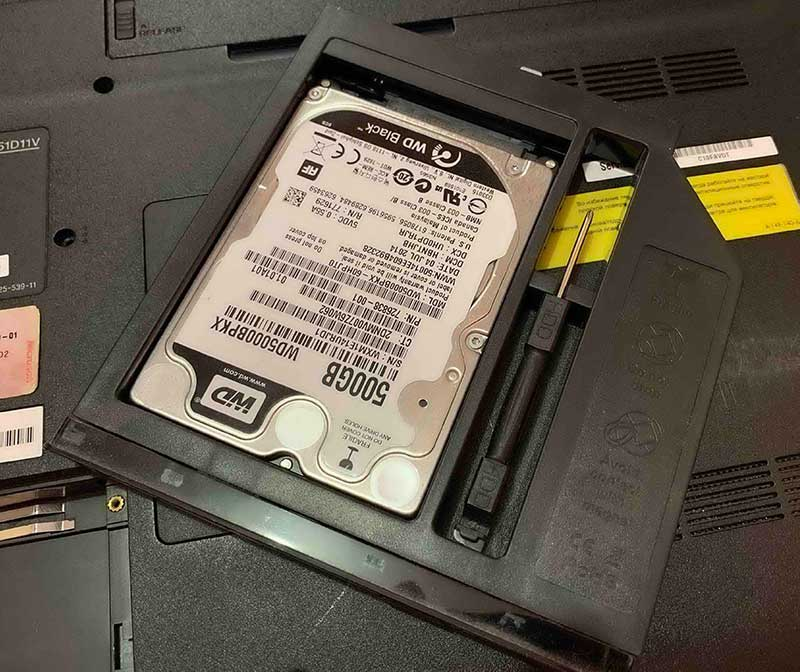 Салазки к HDD для ноутбуков нагружают процессор или не работают