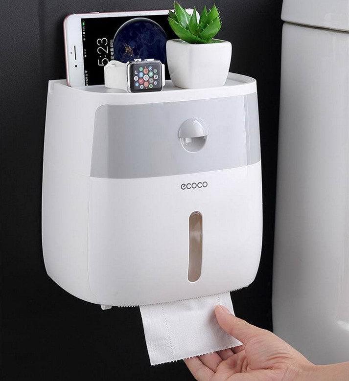 Держатель для туалетной бумаги с полкой