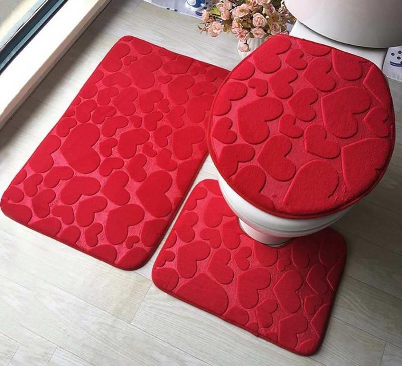 Набор ковриков для ванной комнаты, комплект
