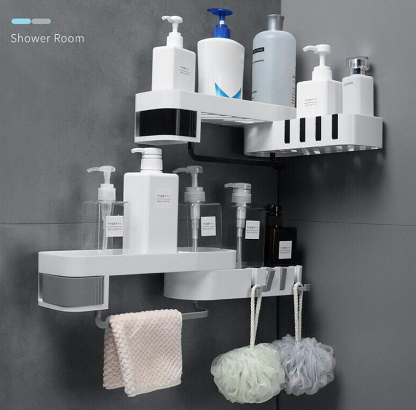 Пластиковая полка для ванной комнаты
