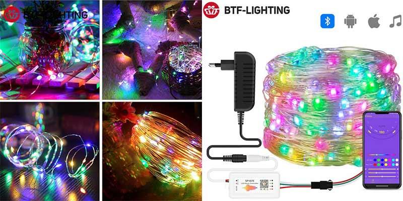 BTF-LIGHTING Рождественская гирлянда на светодиодах WS2812B