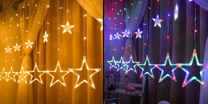 новогодняя гирлянда звезды