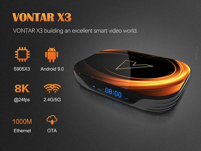 VONTAR X3 оптимальный тв бокс 2020