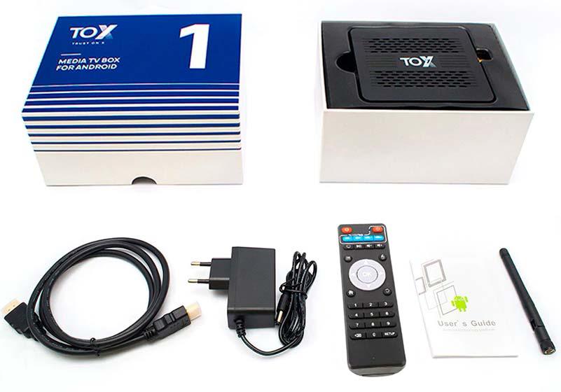 tv box TOX1 комплектация