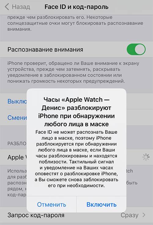 Распознавание лица в маске на iPhone