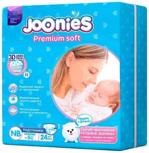 подгузники Joonies Premium Soft NB (0-5 кг)