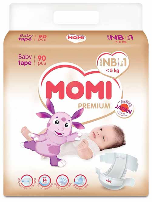 подгузники Momi Premium NB (0-5 кг)