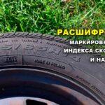 Таблица маркировки шин расшифровка — индекс скорости и нагрузки