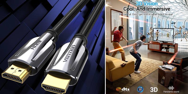 Кабель HDMI Vention 2.1, 8K/60 Гц, 4K/120 Гц, 48 Гбит/с, цифровые кабели HDMI 2,1, сплиттер кабеля для HDR10 + PS5