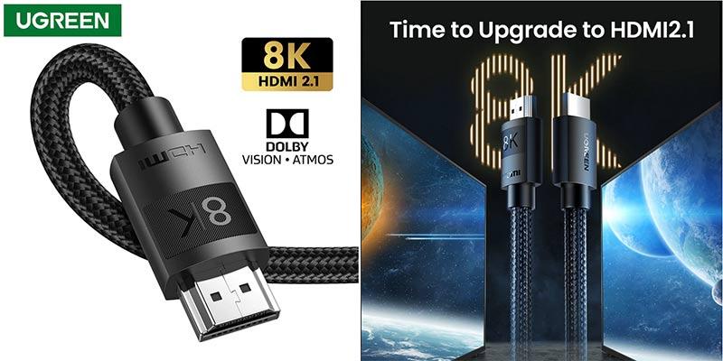 Кабель NEW UGREEN HDMI 2.1 8K/60Hz для ТВ-приставки, Xiaomi Mi Box и др. высокоскоростной, eARC HDR10, Dolby Vision, 48 Гбит/с